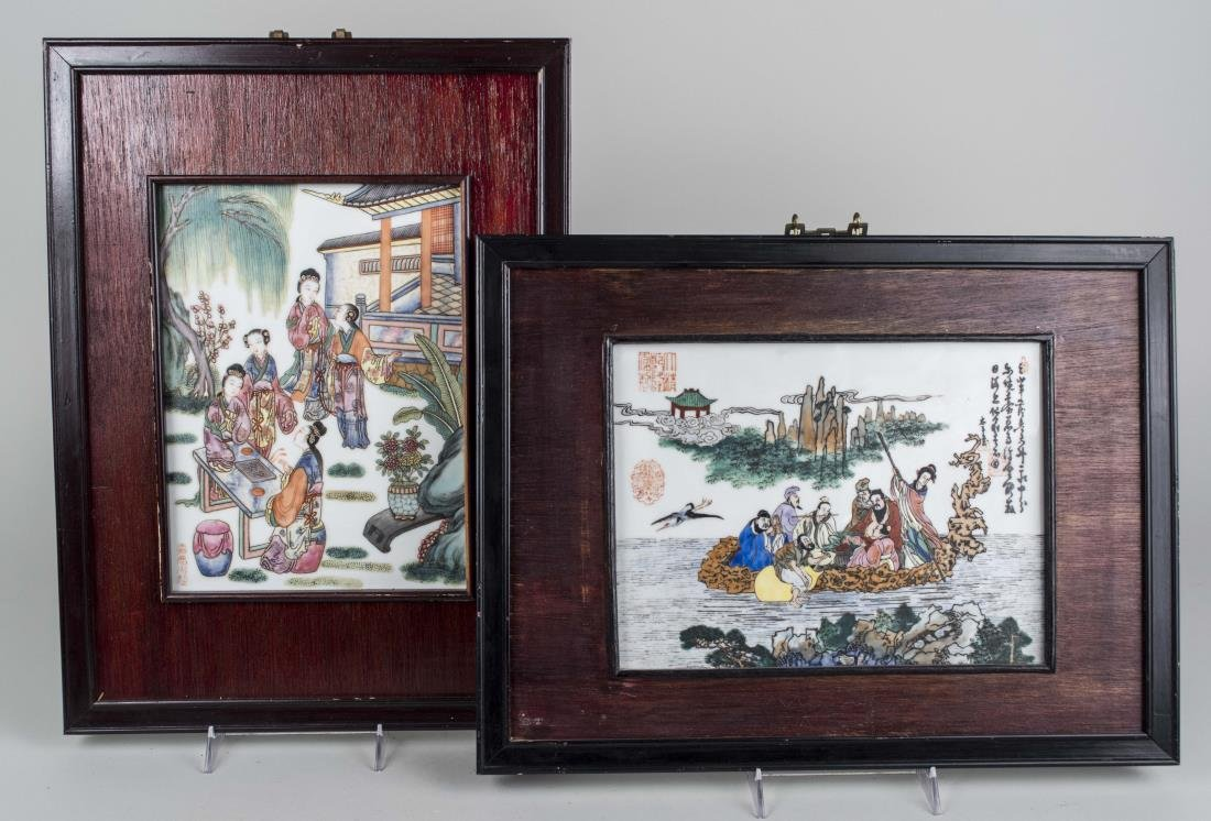 Two Chinese Porcelain Plaques