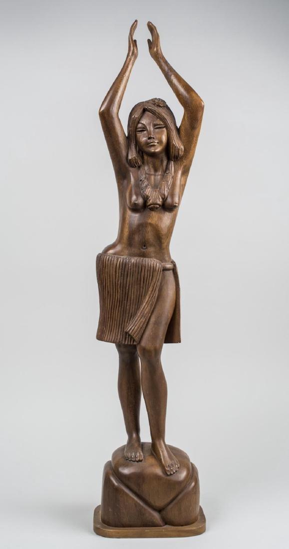 Polynesian Carved Wood Figure