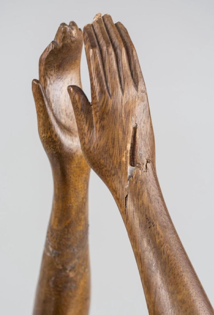 Polynesian Carved Wood Figure - 2