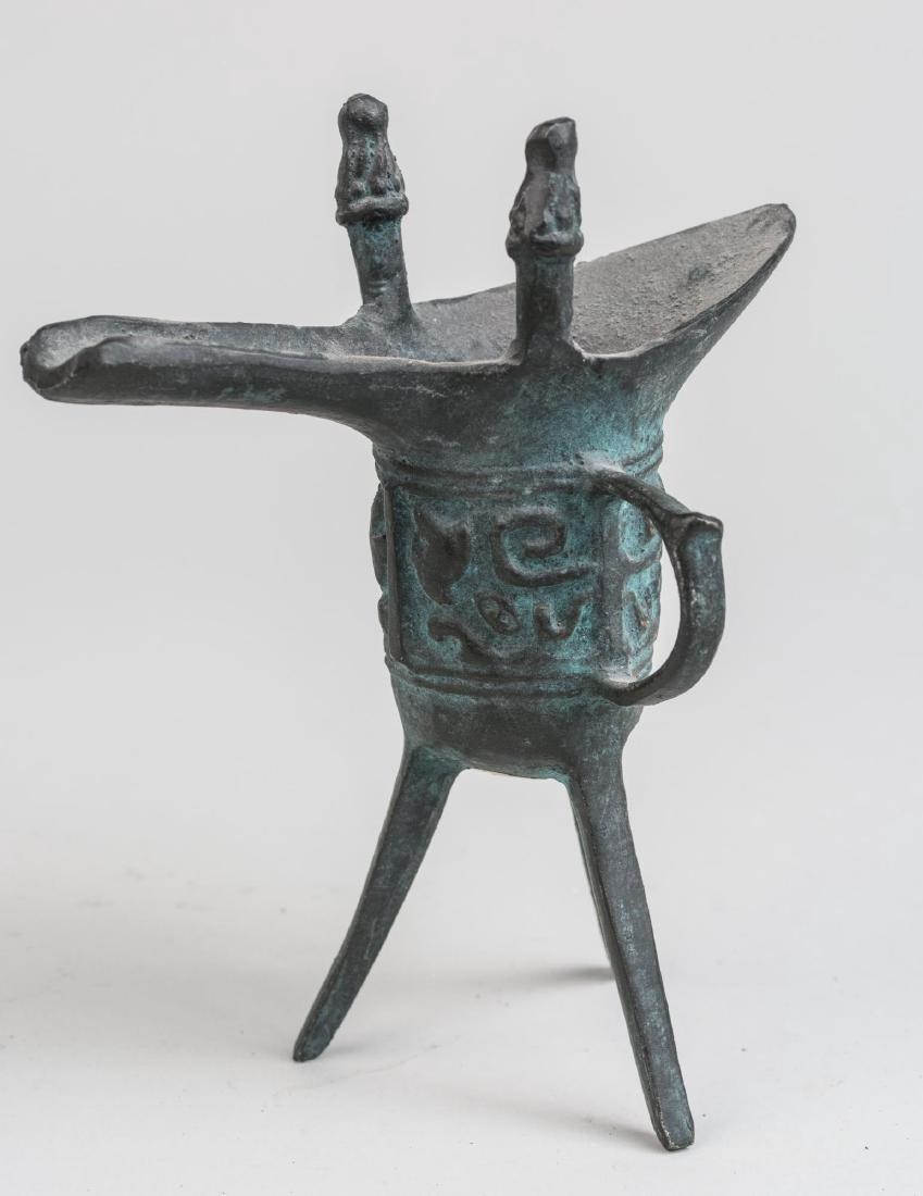 Chinese Bronze Jue Vase