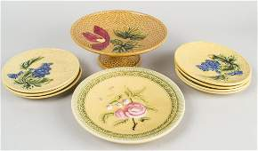 Group of German Majolica Table Articles