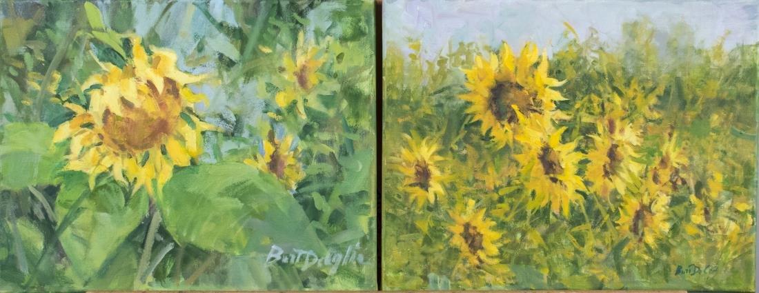 Pair of Paintings by Bart Deceglie