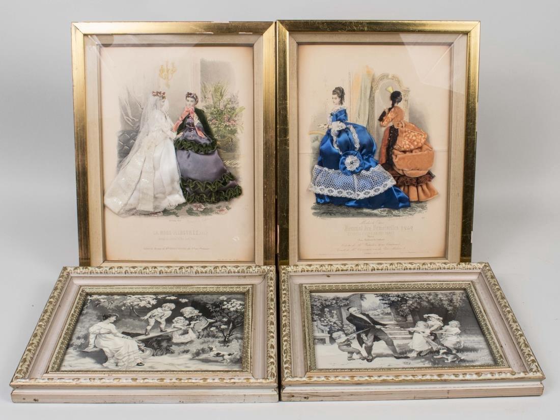 Group of Four Antique Decorative Prints