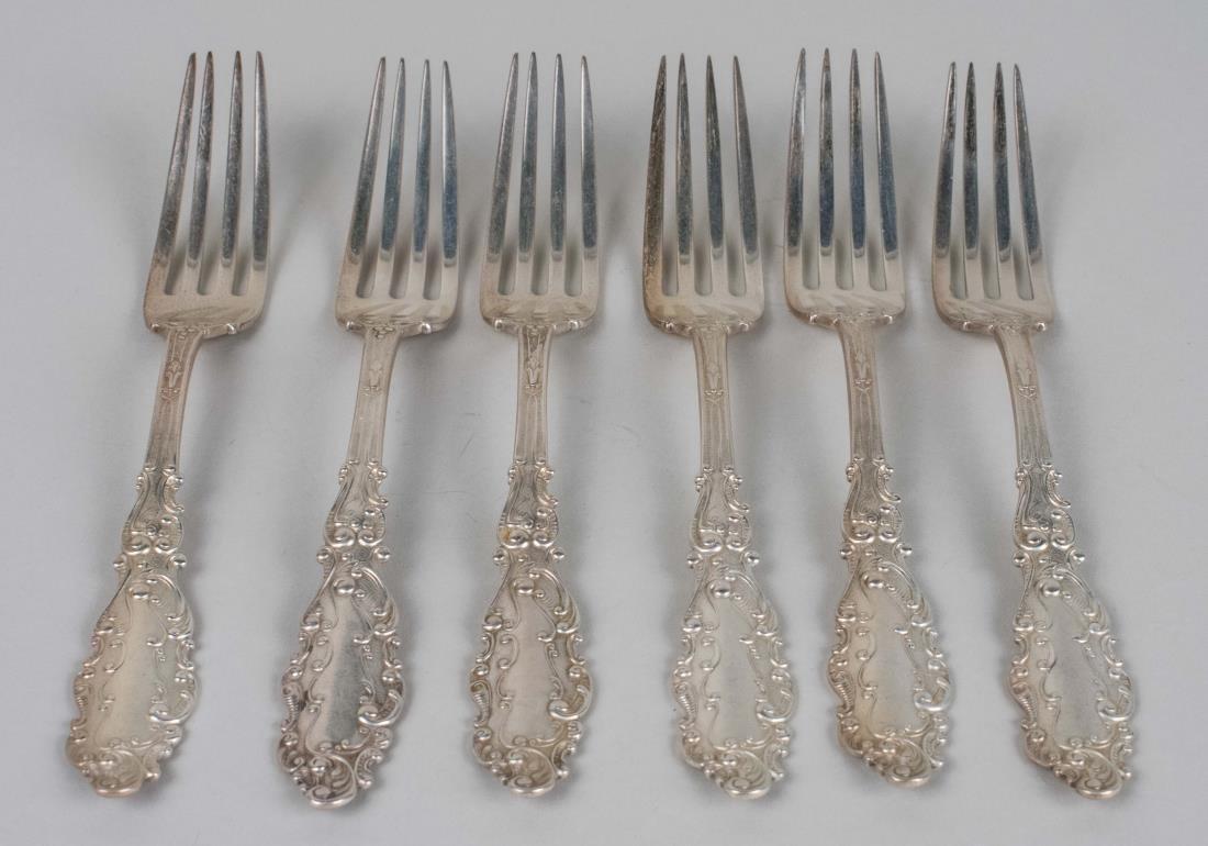 Set of Six Gorham Sterling Dinner Forks