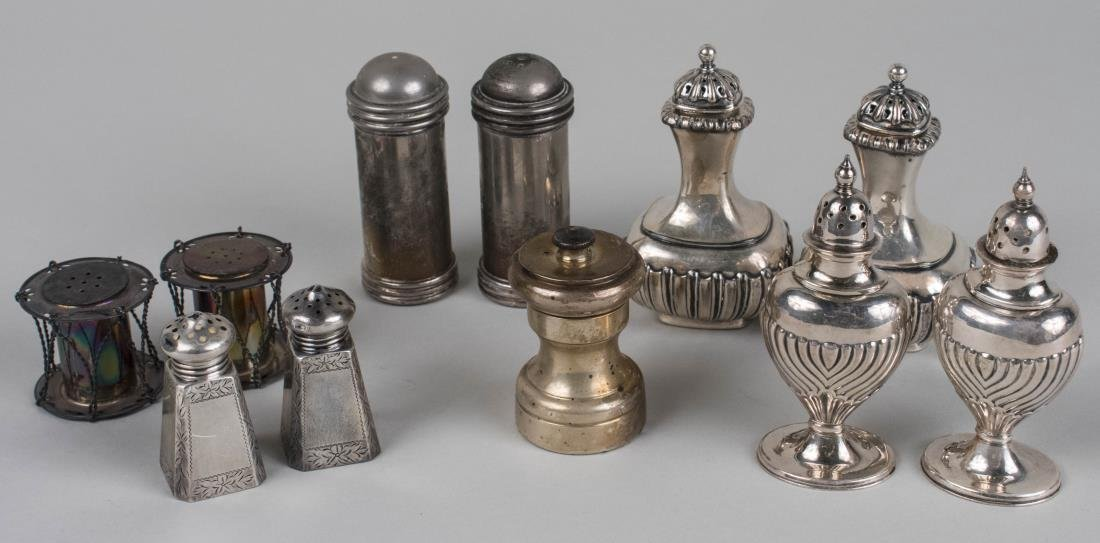 Group of Sterling and Silver Plated Shakers