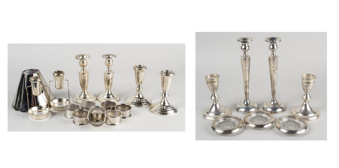 Group of Sterling & Silver Plated Table Articles