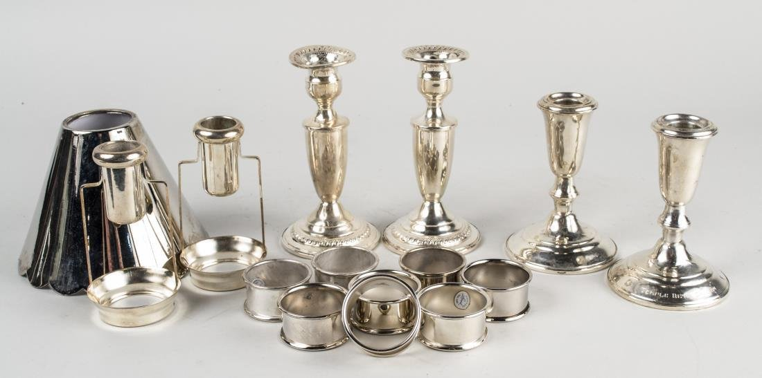 Group of Sterling & Silver Plated Table Articles - 2