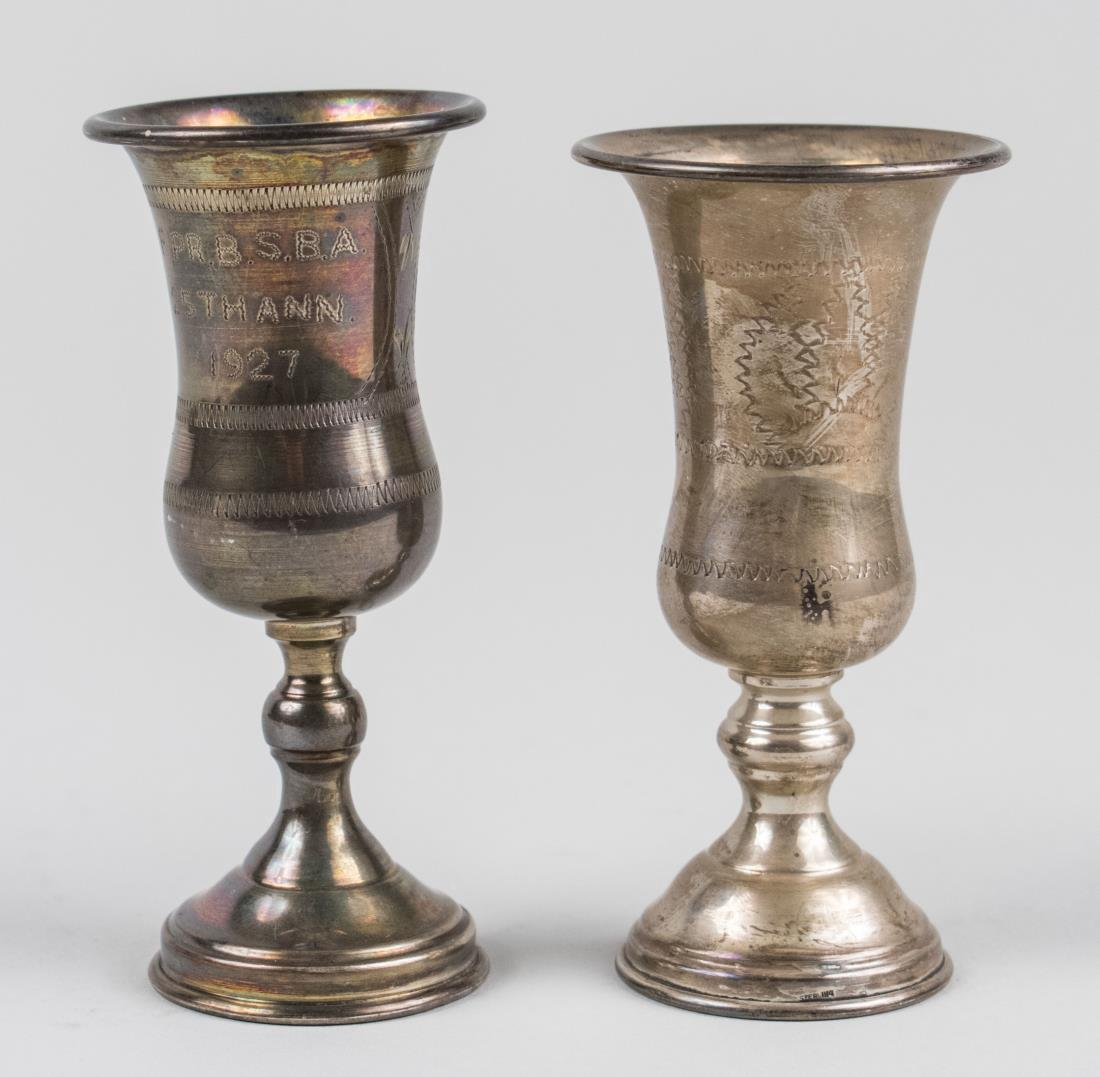Two Sterling Silver Wine Cups