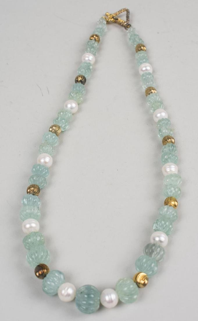 Three Gemstone Bead Necklaces - 3