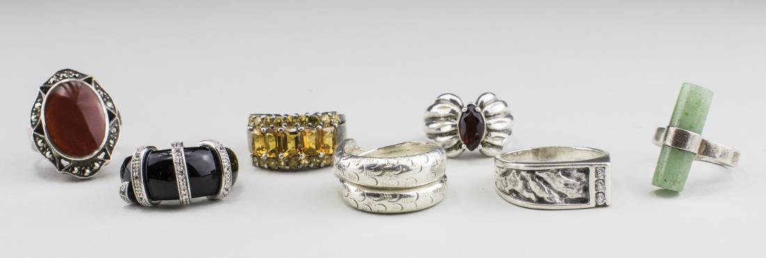 Group of Sterling Silver Rings