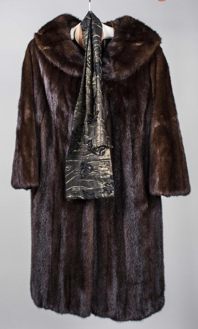 Lady's Dark Brown Fur Coat