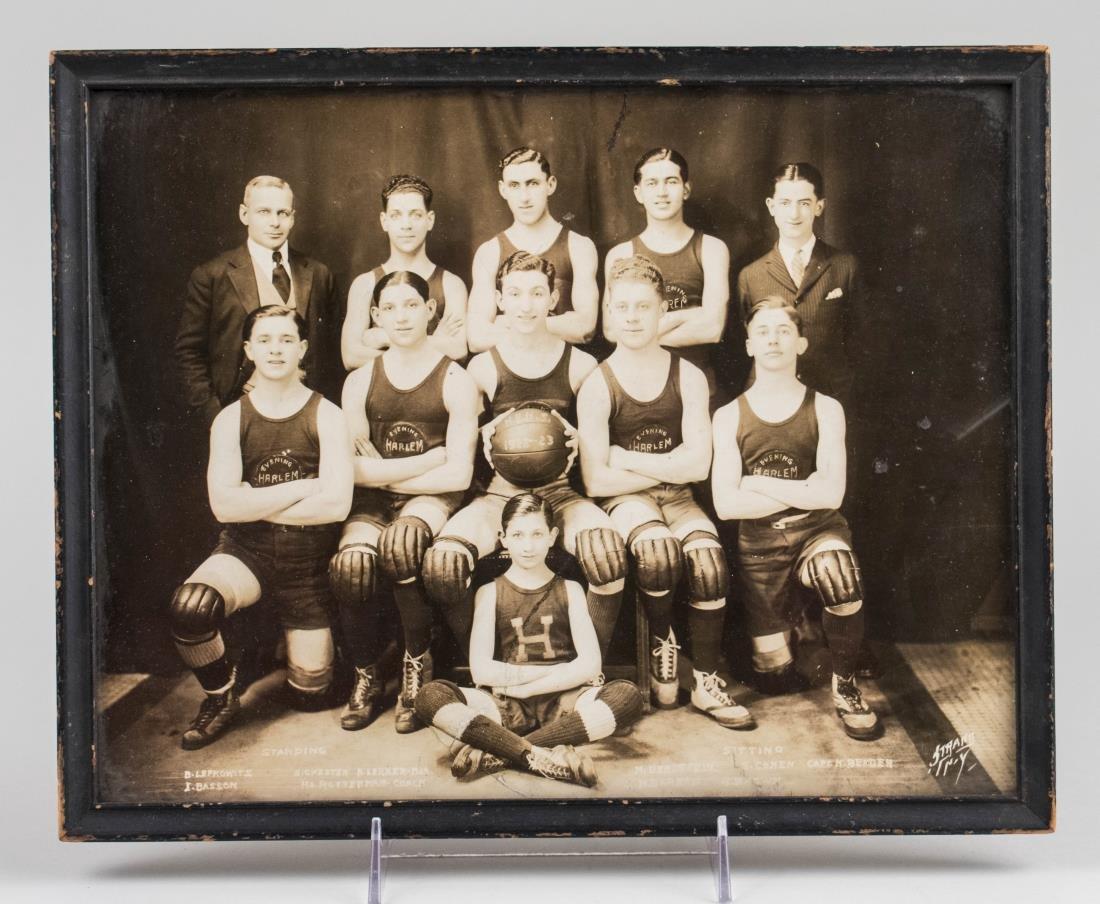 Vintage Photo of a Harlem Basket Ball Team