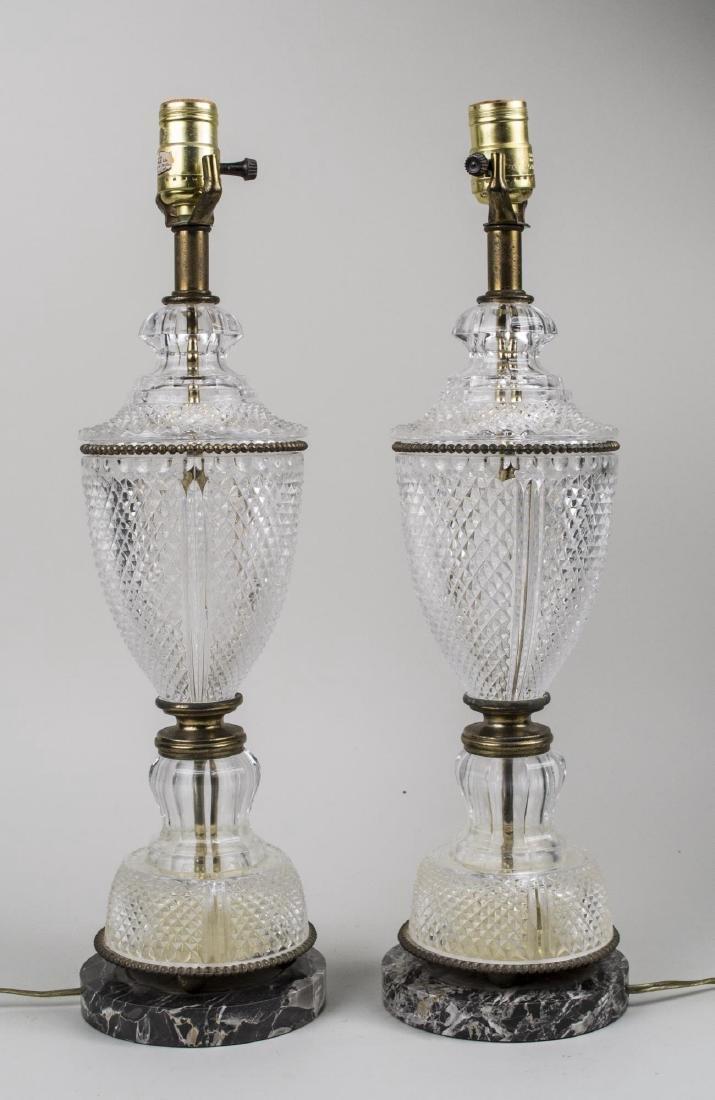Pair of Art Deco Glass Lamps   *