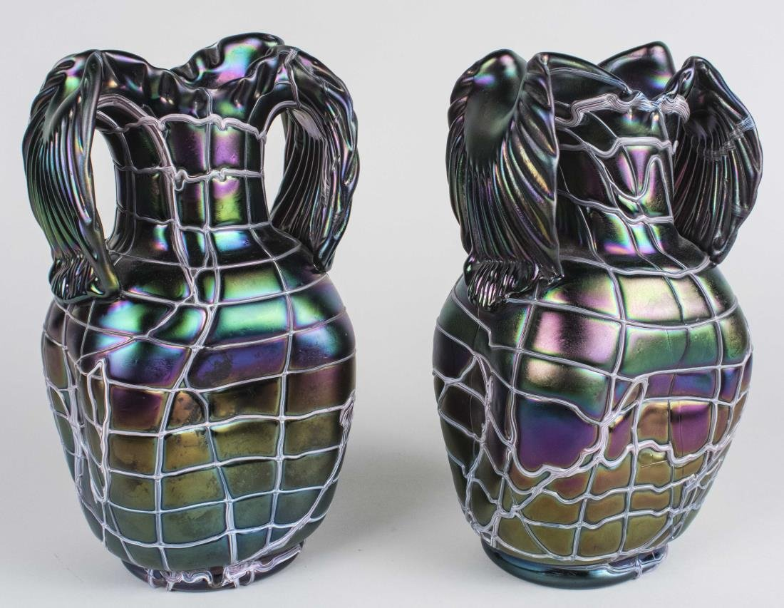 Pair of Pallme Koenig Glass Vases