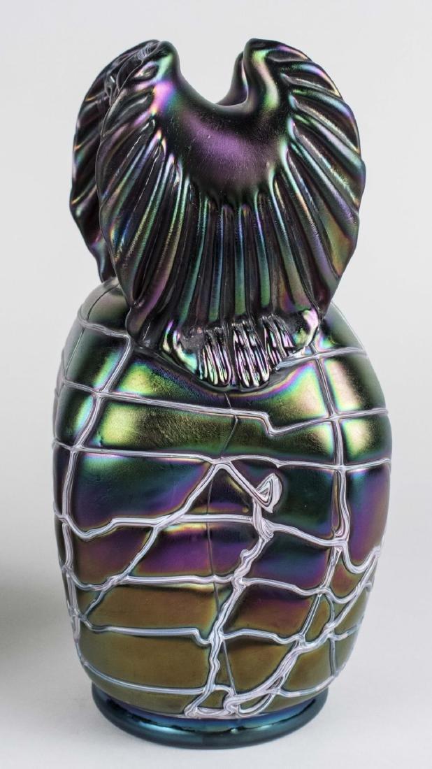 Pair of Pallme Koenig Glass Vases - 3