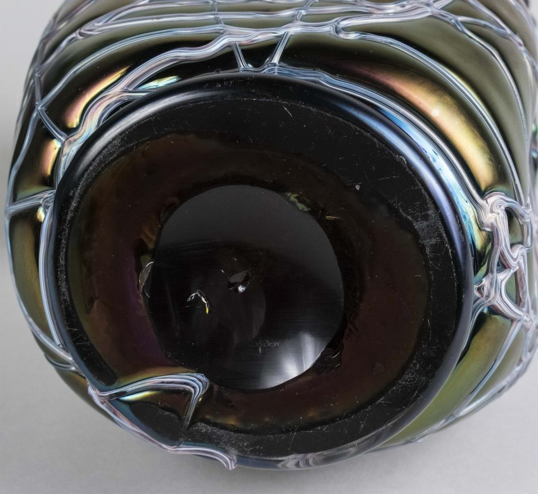 Pair of Pallme Koenig Glass Vases - 4