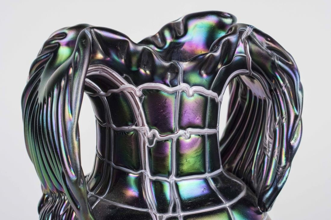 Pair of Pallme Koenig Glass Vases - 5