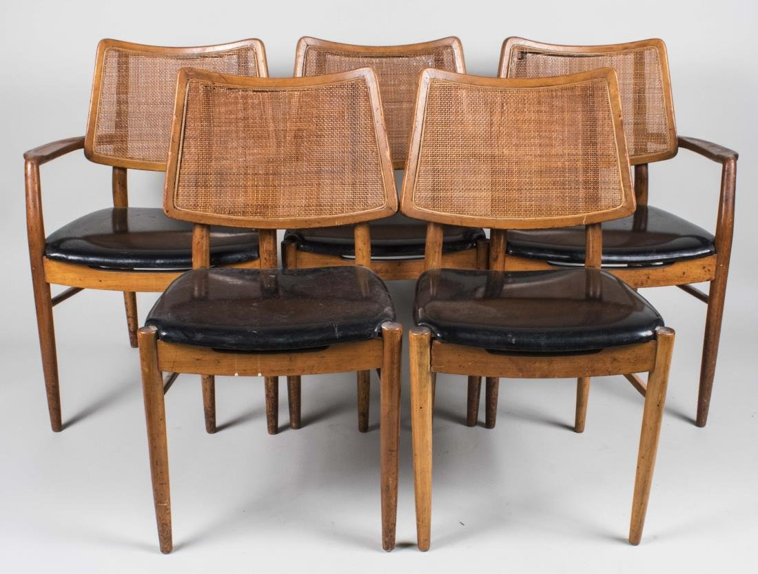Set of Five Mid Century Dining Chairs