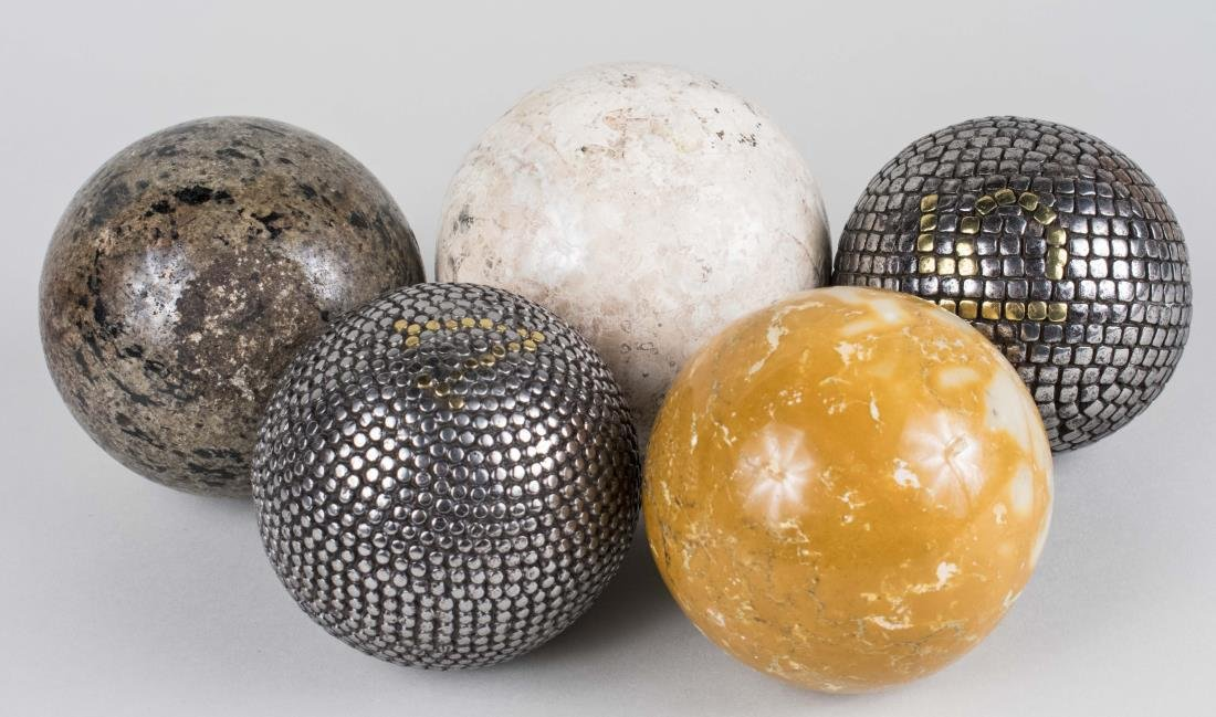 Group of Five Decorative Spheres