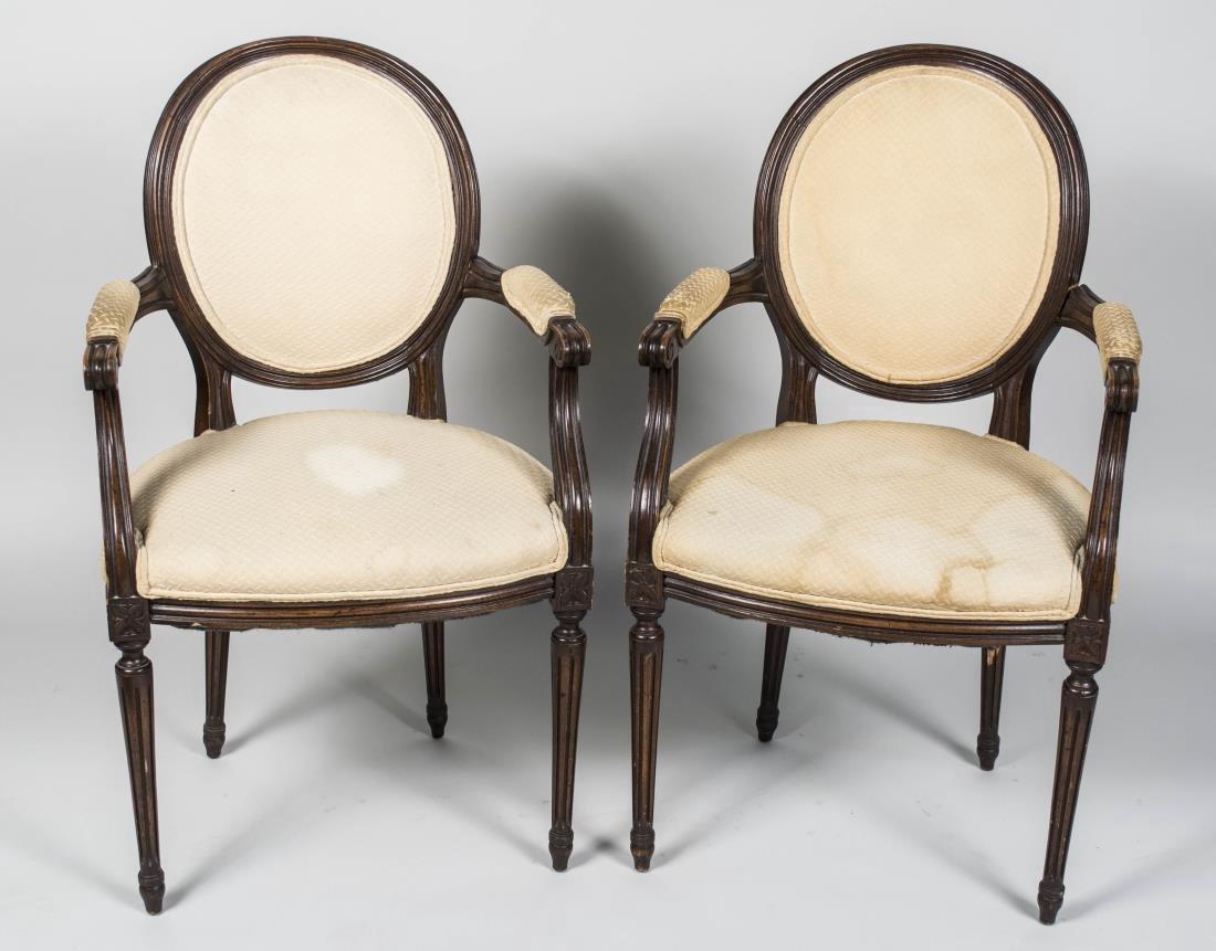 Pair of Louis XVI Style Fauteuils