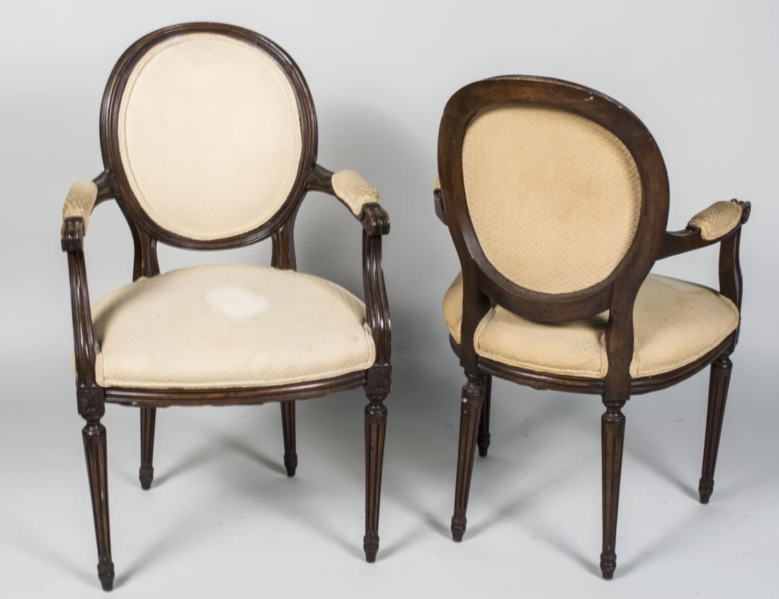 Pair of Louis XVI Style Fauteuils - 2