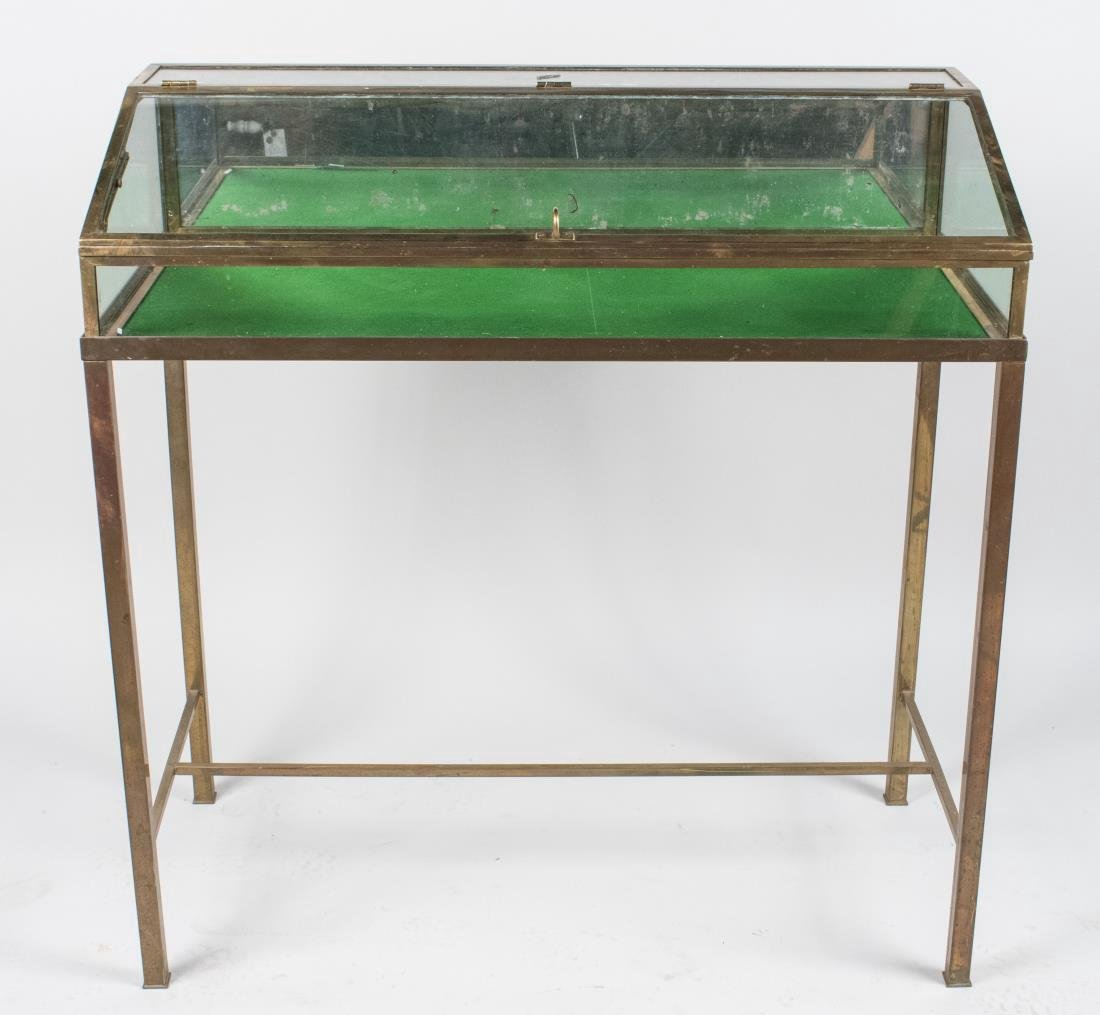 Brass Frame Glass Display Case