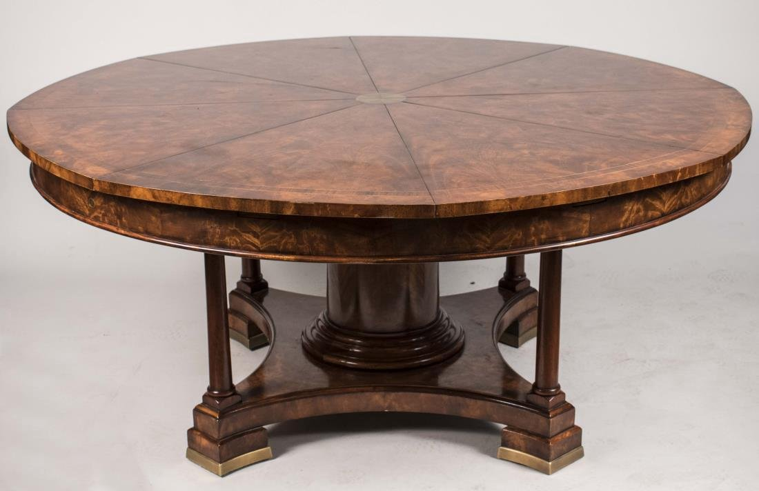 Mahogany 'Nova Crotch' Circular Dining Table