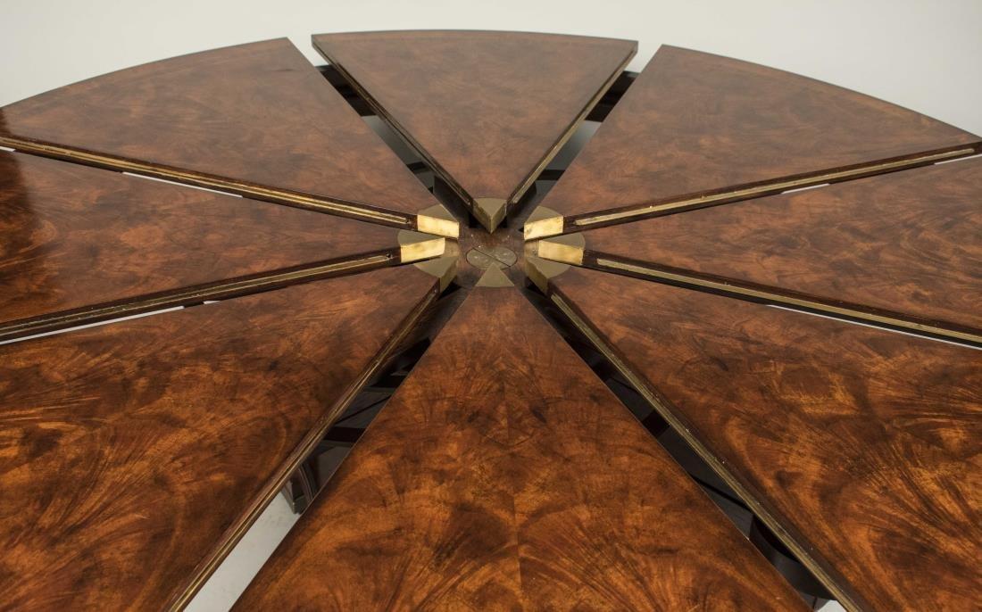 Mahogany 'Nova Crotch' Circular Dining Table - 2