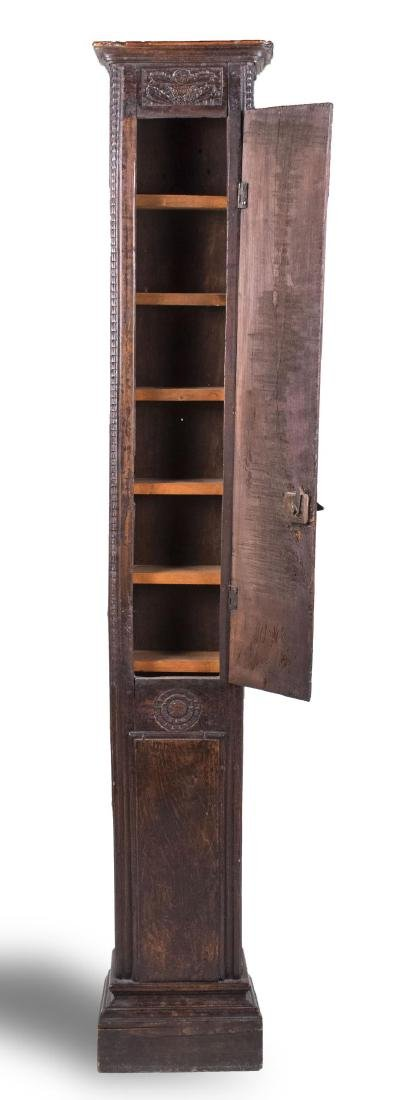 Carved Wood Tall Cabinet - 2