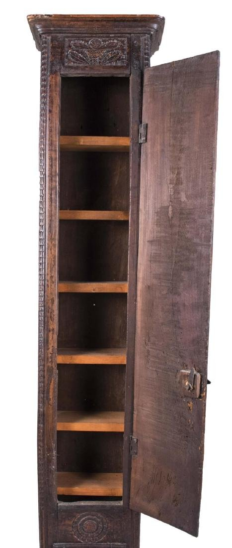 Carved Wood Tall Cabinet - 3