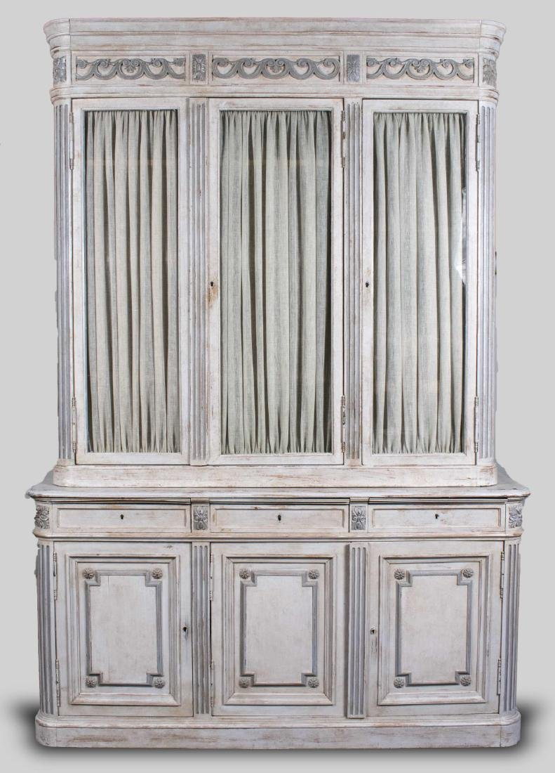 Neoclassical Style Painted China Cabinet