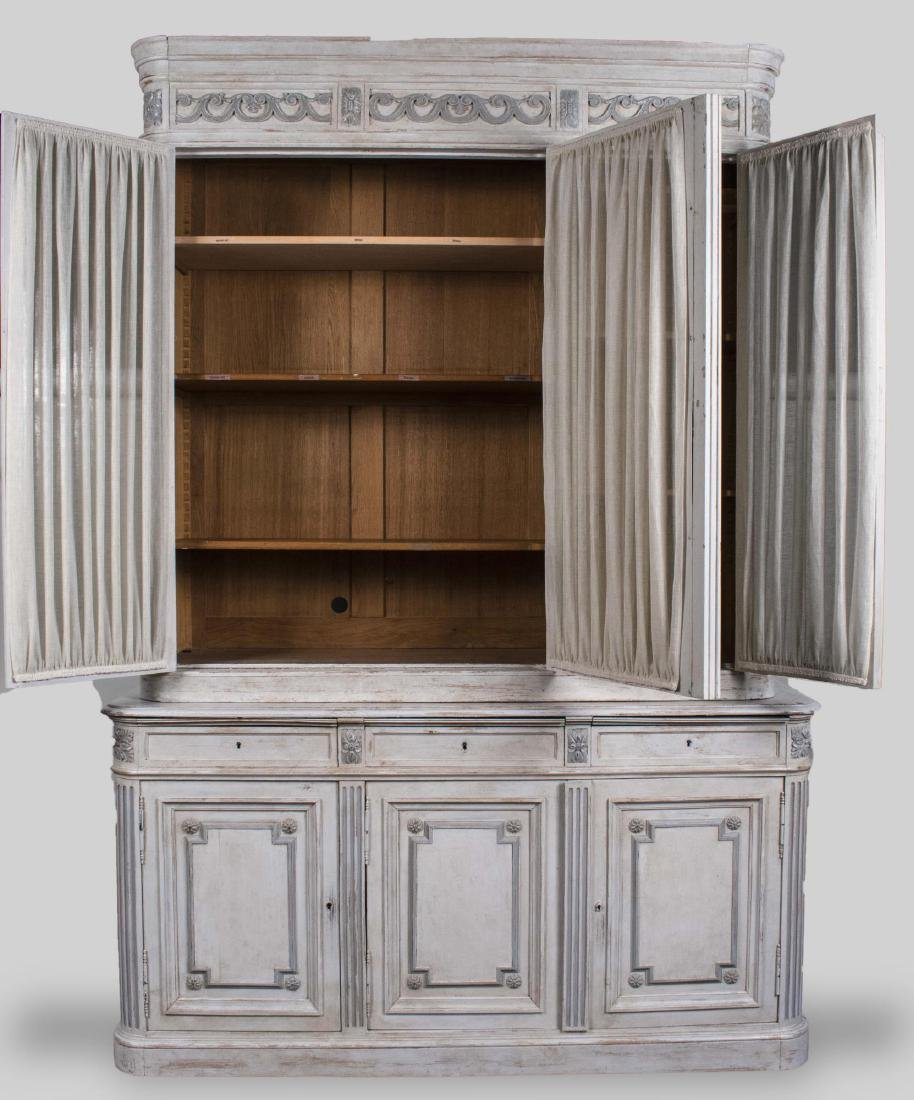 Neoclassical Style Painted China Cabinet - 2