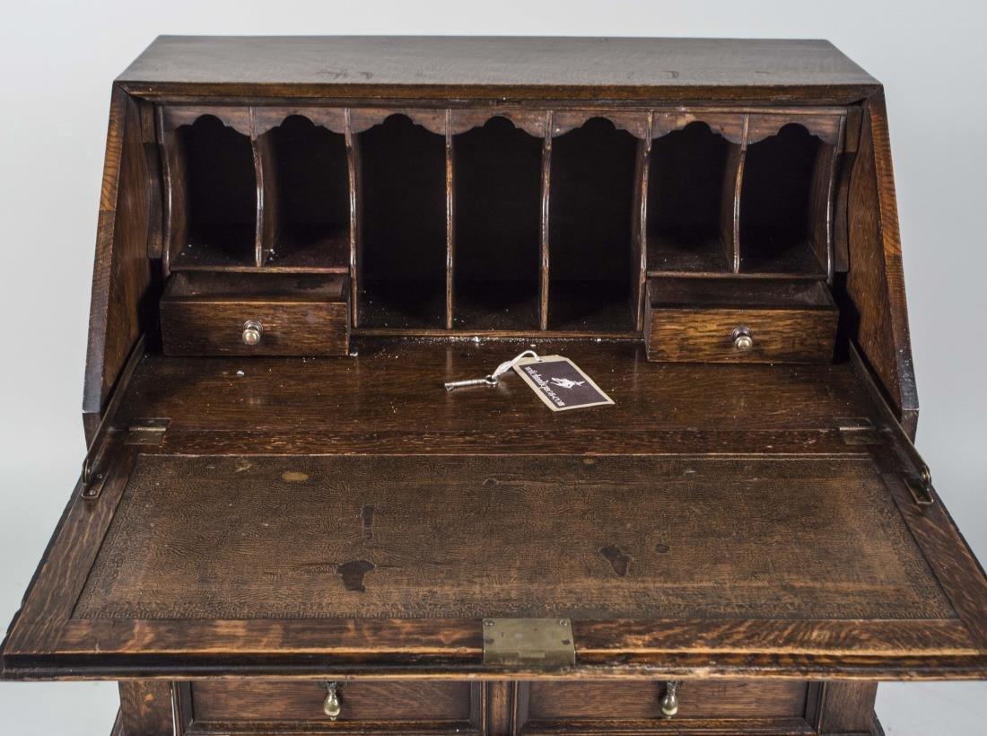 English Oak Slant Front Desk - 2