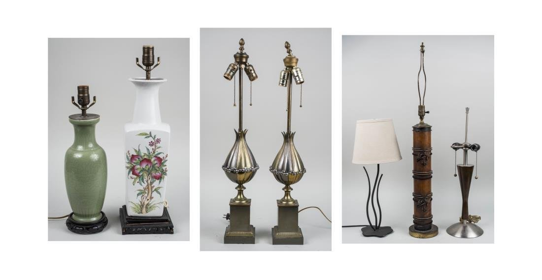 Group of Seven Table Lamps