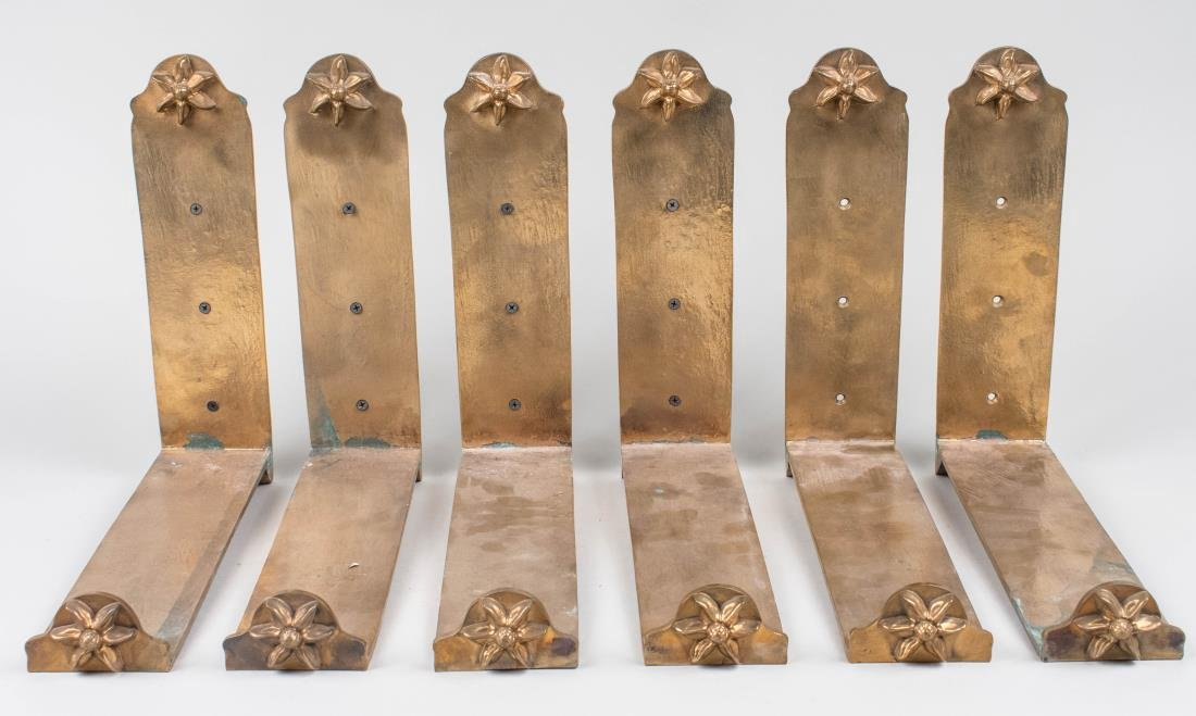 Set of Six Bronze Brackets