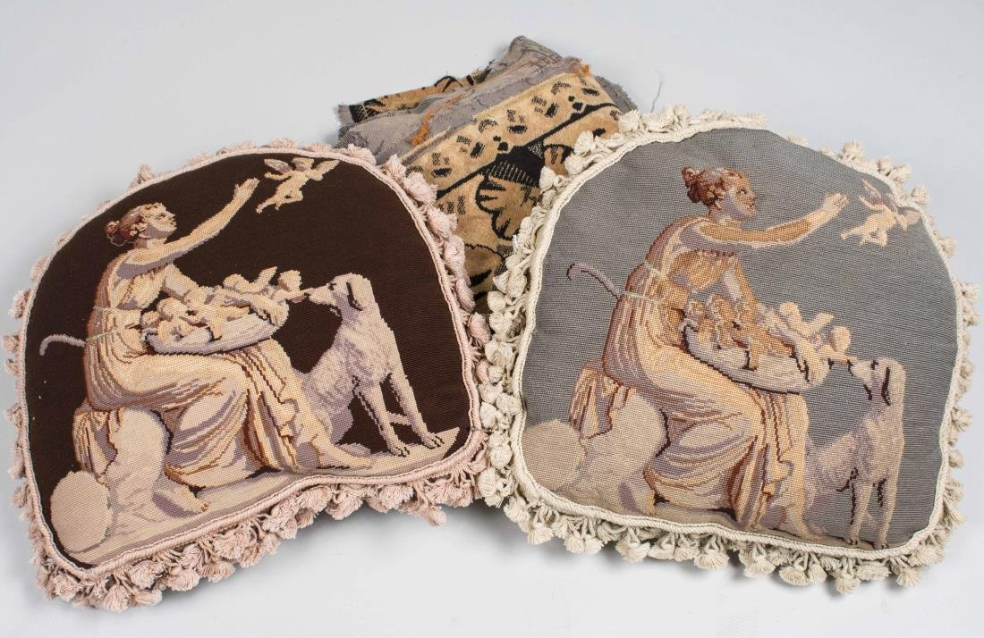 Pair of Danish Tapestry Pillows