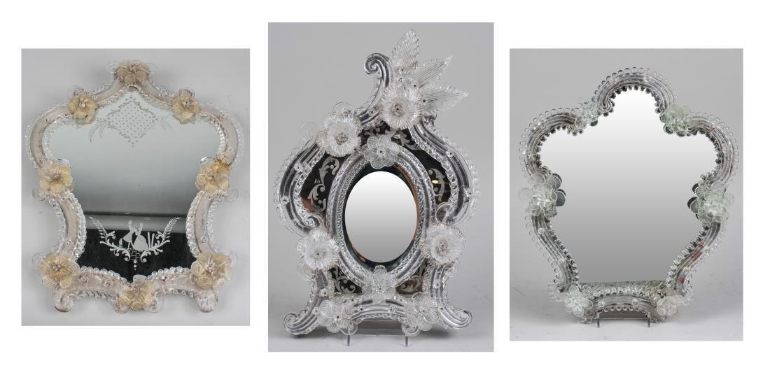 Three Venetian Glass Mirrors