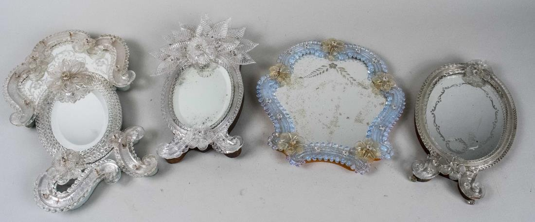 Four Venetian Glass Mirrors