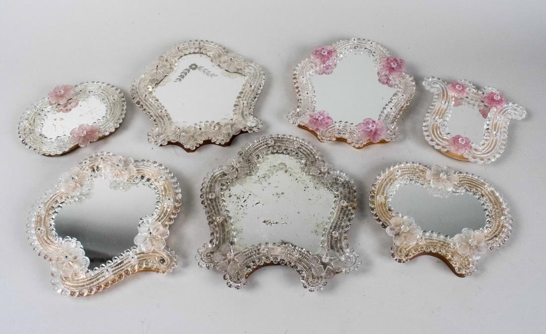 Eight Venetian Glass Mirrors