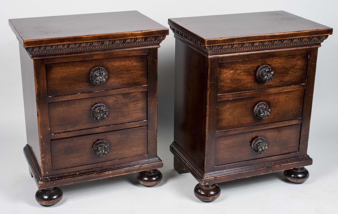 Pair of Fruitwood Night Stands