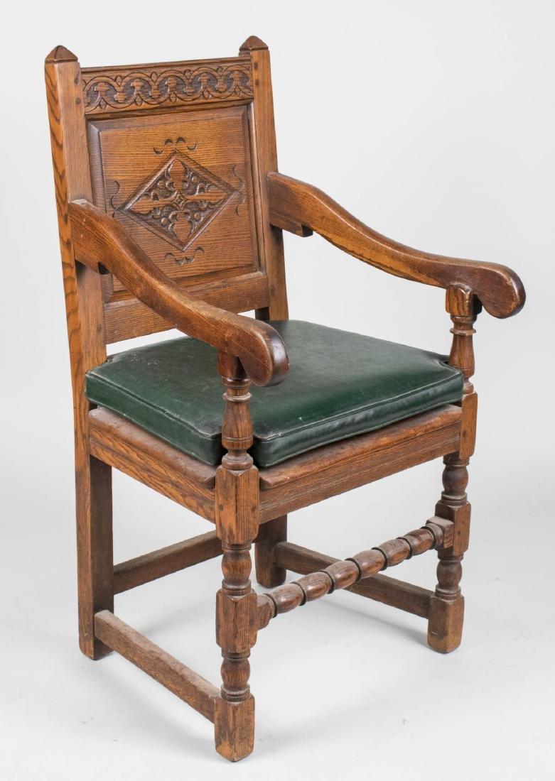 Jacobean Style Wainscott Armchair