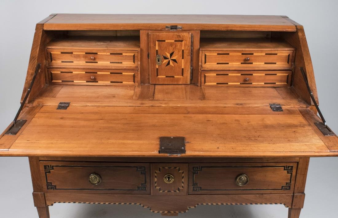 Italian Fruitwood Slant Front Desk - 2