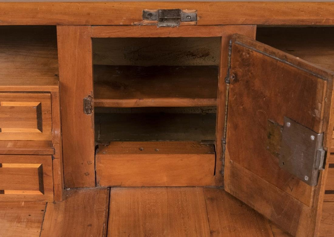 Italian Fruitwood Slant Front Desk - 4