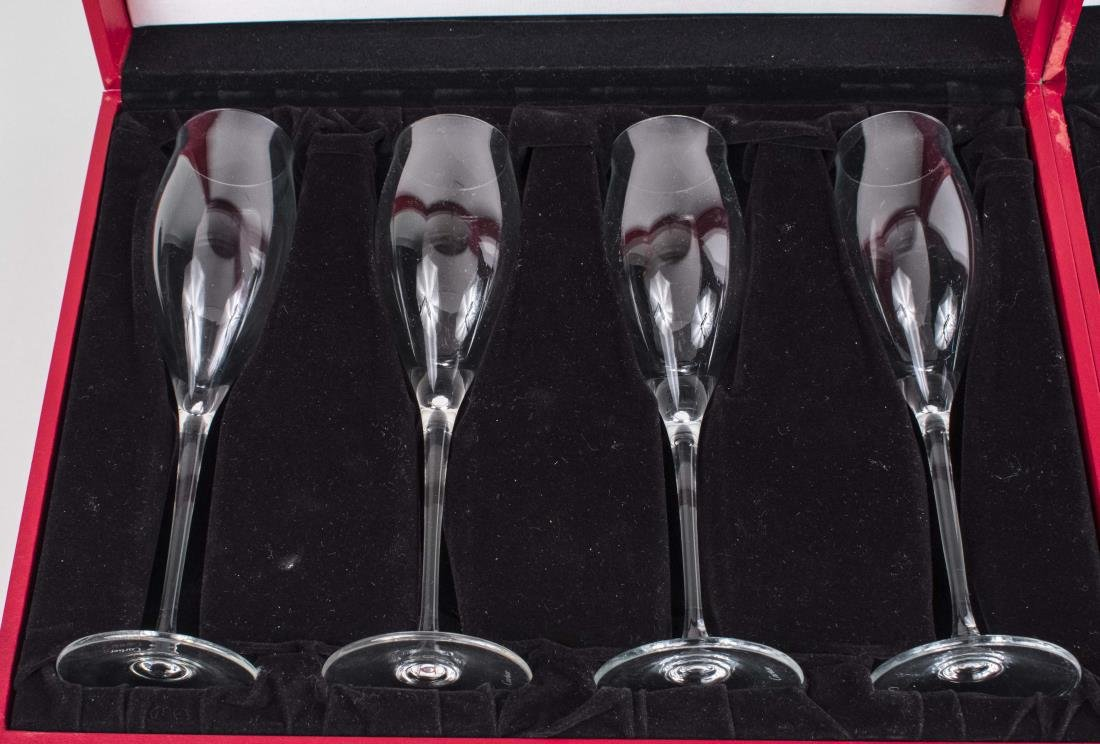 Set of Eight Cartier Champagne Flutes - 2