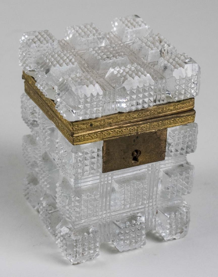 French Cut Glass Dresser Box