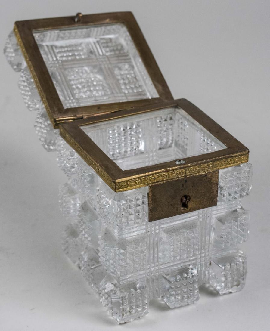 French Cut Glass Dresser Box - 2