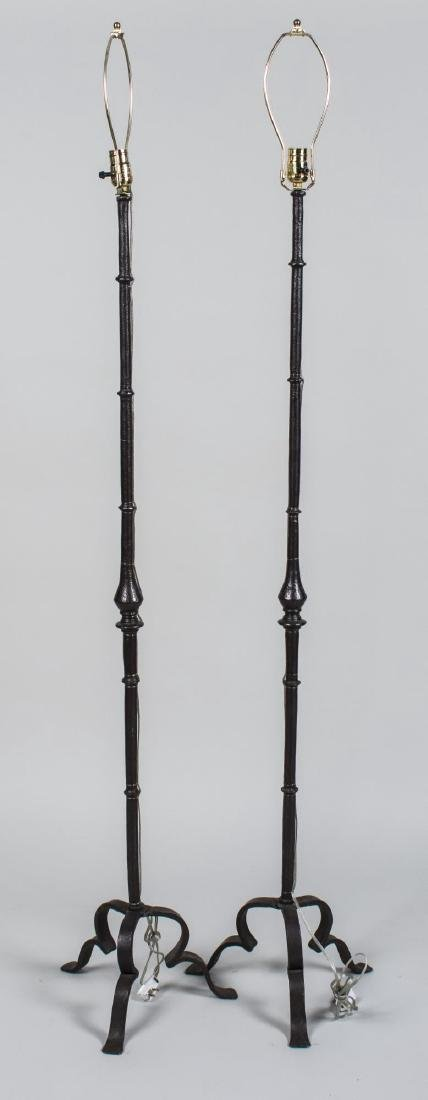 Pair of Faux Bamboo Floor Lamps