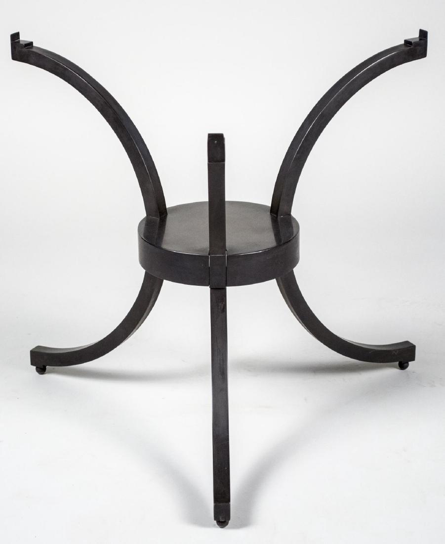 Burnished Steel Table Base