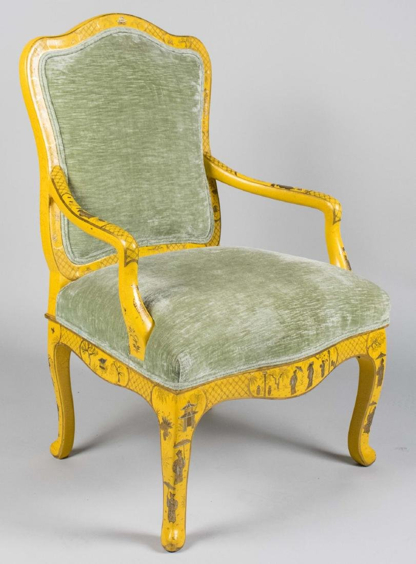 French Style Painted Armchair