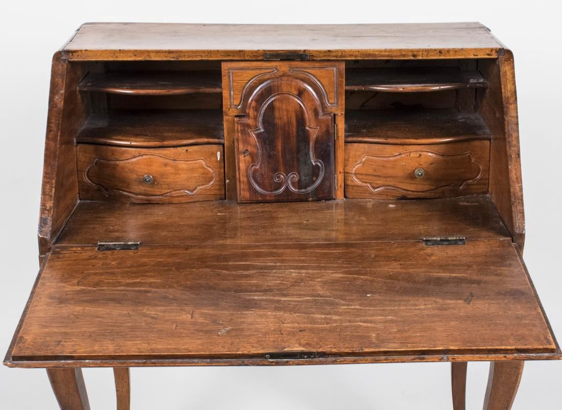 Continental Fruitwood Slant Front Lady's Desk - 2
